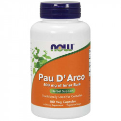 NOW Pau D'Arco 500mg Of Inner Bark 100vegcaps