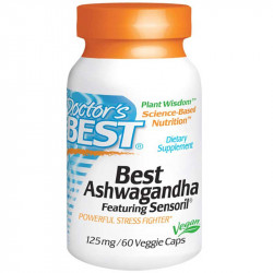 DOCTOR'S BEST Best Ashwagandha 125mg 60vegcaps