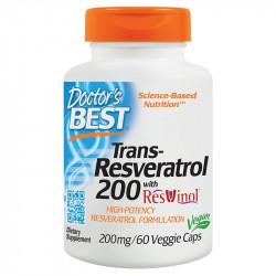 DOCTOR'S BEST Best Trans-Resveratrol 200 60vegcaps