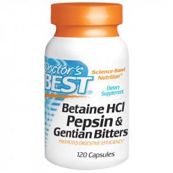 DOCTOR'S BEST HCl Pepsin & Gentian Bitters 360caps