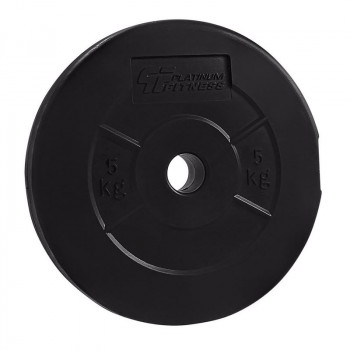 PLATINUM FITNESS Obciążenie Bitumiczne Czarne P0011 29mm/5kg