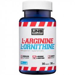 UNS L-Arginine L-Ornithine 30tabs