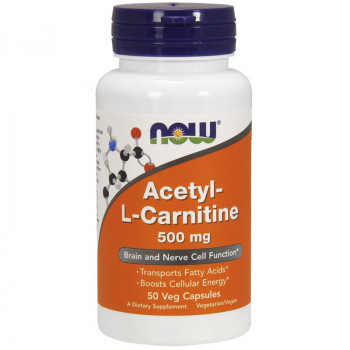 NOW Acetyl-L-Carnitine 500mg 50vegcaps