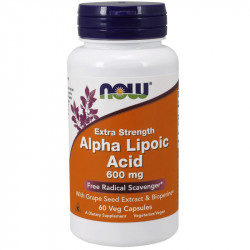 NOW Extra Strength Alpha Lipoic Acid 600mg 60vegcaps