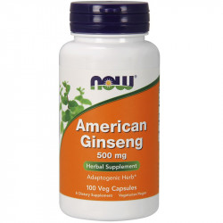 NOW American Ginseng 500mg 100vegcaps