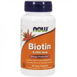 NOW Biotin 5,000mcg 120vegcaps