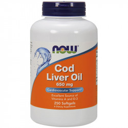 NOW Cod Liver Oil 650mg...