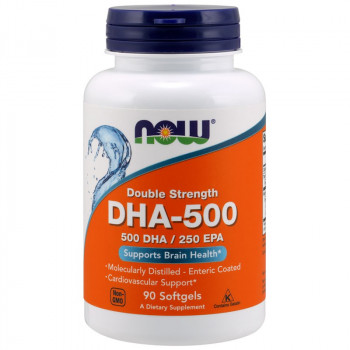 NOW Double Strength DHA-500 500 DHA/250 EPA 90caps