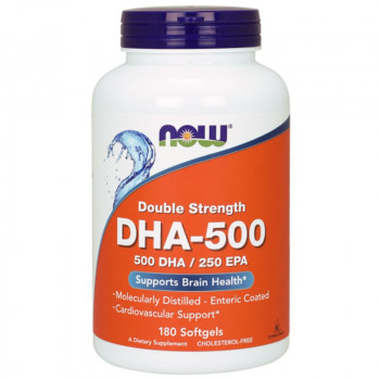 NOW Double Strength DHA-500 500 DHA/250 EPA 180caps