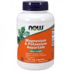 NOW Magnesium&Potassium Aspartate 120vegcaps