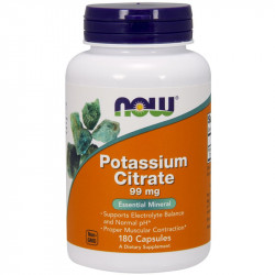 NOW Potassium Citrate 99mg 180caps