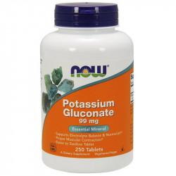 NOW Potassium Gluconate 99mg 250tabs