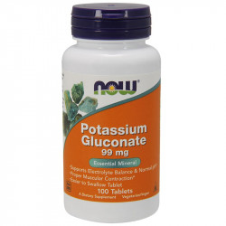 NOW Potassium Gluconate 99mg 250tabs