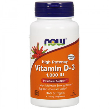 NOW High Potency Vitamin D-3 1,000 IU 360caps