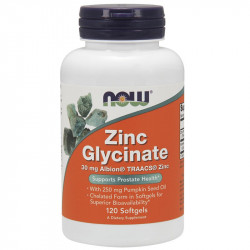 NOW Zinc Glycinat 30mg Albion® TRAACS® Zinc 120caps