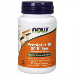 NOW Probiotic-10 50 Billion 10 Probiotic Strains 50vegcaps