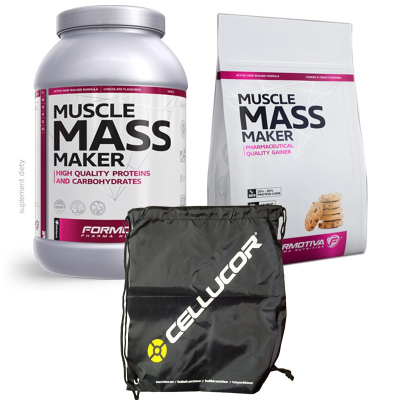 Formotiva Muscle Mass Maker 4kg + Cellucor Gym Sack