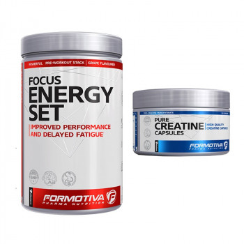 FORMOTIVA Focus Energy Set 480g + FORMOTIVA Creatine Capsules 120caps