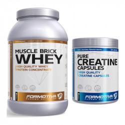 Formotiva Muscle Brick Whey 2100g + Formotiva Creatine Capsules 300caps