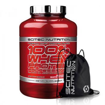 SCITEC 100% Whey Protein Professional 2350g + SCITEC Gym Sack Black Silver Print Worek Treningowy