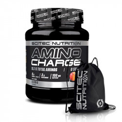 SCITEC Amino Charge 570g + SCITEC Gym Sack Black Silver Print Worek Treningowy