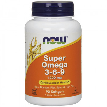 NOW Super Omega 3-6-9 1200mg 90caps
