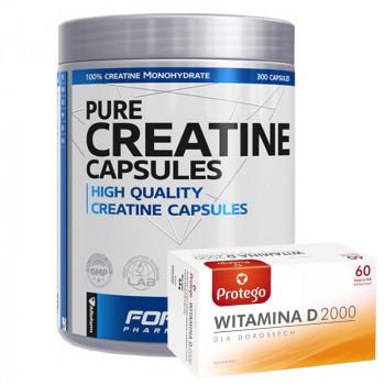 Formotiva Creatine Capsules 300caps + Protego Witamina D 2000 60caps