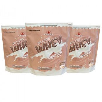 PEAK Delicious Whey Protein 3x1000g