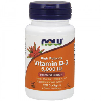 NOW High Potency Vitamin D-3 5,000 IU 120caps