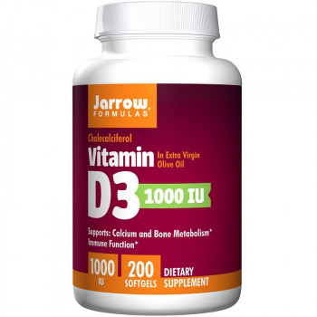 JARROW FORMULAS Vitamin D3 1000 IU 200caps