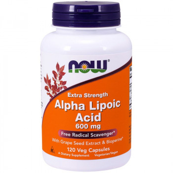 NOW Extra Strength Alpha Lipoic Acid 600mg 60vegcaps