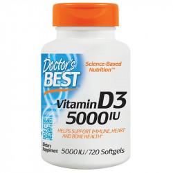 DOCTOR'S BEST Best Vitamin D-3 1000 IU 180caps