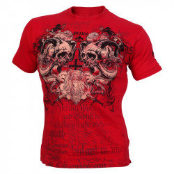 OLIMP Live And Fight T-Shirt Screaming Skulls Koszulka