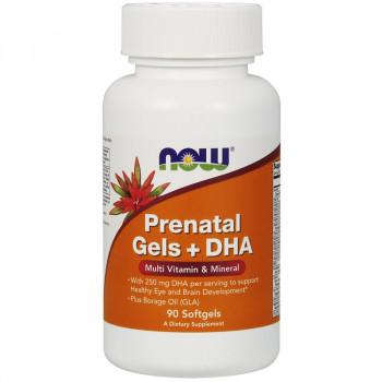 NOW Prenatal Gels + DHA 90caps