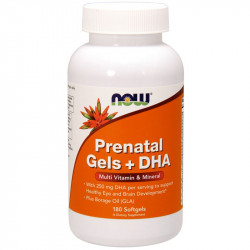 NOW Prenatal Gels + DHA 180caps