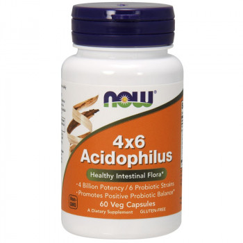 NOW 4x6 Acidophilus 60vegcaps