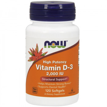 NOW High Potency Vitamin D-3 2,000 IU 120caps