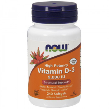NOW High Potency Vitamin D-3 2,000 IU 240caps