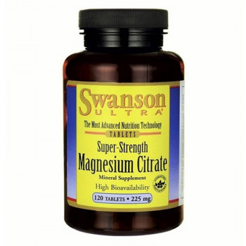 SWANSON Super-Strength Magnesium Citrate 120tabs