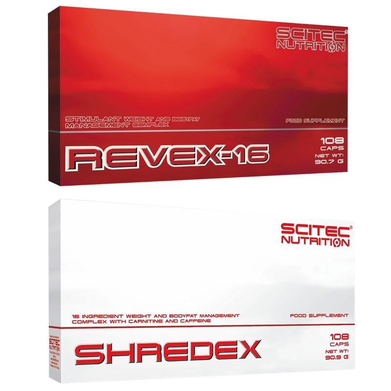 SCITEC Revex 16 108caps + SCITEC Shredex