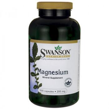 SWANSON Magnesium 200mg 500caps