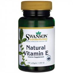 SWANSON Natural Vitamin E 200 IU 100caps