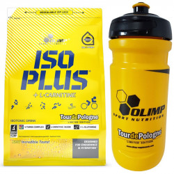 OLIMP Iso Plus TourDePologne 1505g + OLIMP Bidon TourDePologne Yellow 600ml