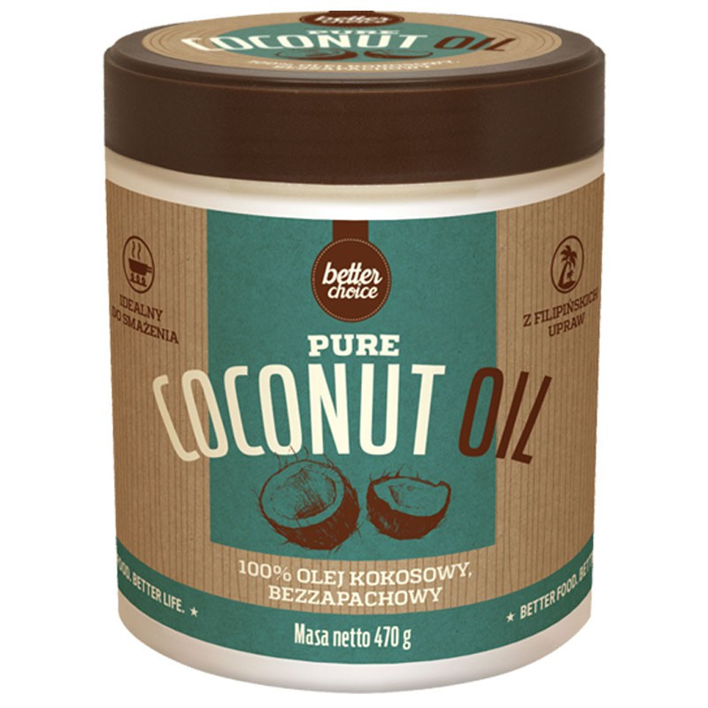 TREC Better Choice Pure Coconut Oil 470g Olej Kokosowy