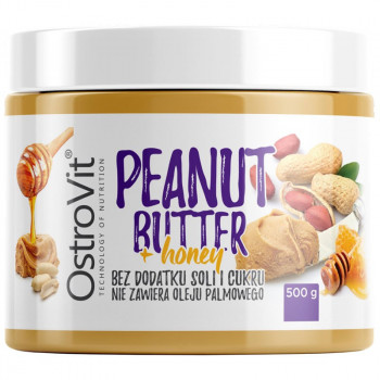 OSTROVIT Peanut Butter + Honey 500g KREM ORZECHOWY Z MIODEM