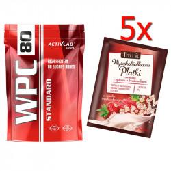 ACTIVLAB WPC80 Standard 700g + 5x I'm Fit Wysokobiałkowe Płatki Owsiane I Ryżowe 50g GRATIS!!!