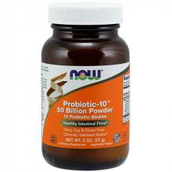 NOW Probiotic-10 50 Billion Powder 10 Probiotc Strains 57g