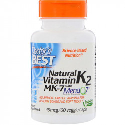 DOCTOR'S BEST Natural Vitamin K2 Mk-7 60vegcaps