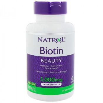 NATROL Biotin Plus 5,000mcg 60tabs