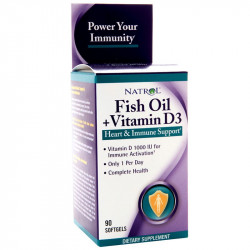 NATROL Fish Oil + Vitamin D3 90caps